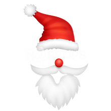 Load image into Gallery viewer, Santa Hat and Beard