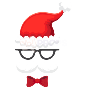 Santa Mask with Glasses