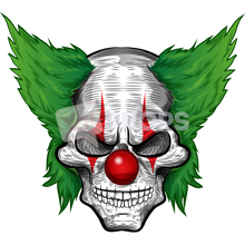Load image into Gallery viewer, Scary Clown Head