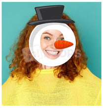 Load image into Gallery viewer, Snowman Mask