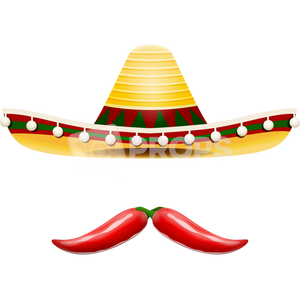 Sombrero Hat and Pepper Mustache
