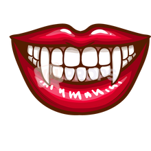 Load image into Gallery viewer, White Teeth with Fangs