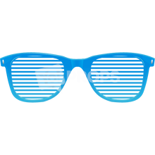 Load image into Gallery viewer, Blue Slotted Glasses