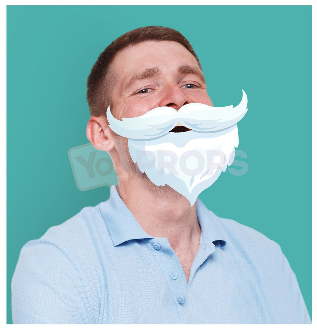 White Mustache and Beard 1