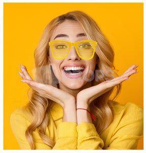 Yellow Slotted Glasses