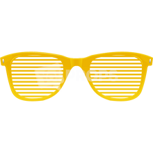 Load image into Gallery viewer, Yellow Slotted Glasses