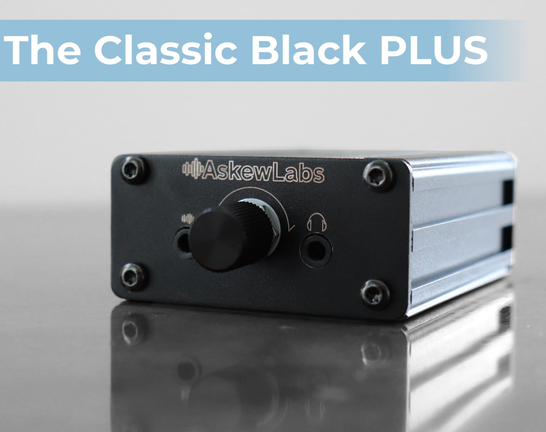 The Classic Black PLUS - UPGRADED portable headphone amplifier