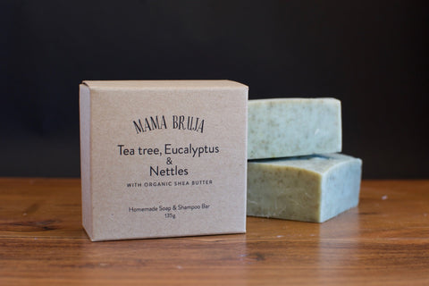 Tea Tree, Eucalyptus & Nettles Soap & Shampoo Bar