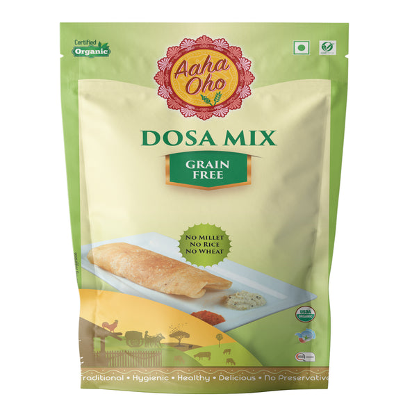 We present to you our healthy and guaranteed organic Grain-Free Dosa Mix. We can assure you of this product is both tasty and nutritional. Just add the required amount of water to the mix and you are good to go. They are rich in proteins and light in nature. So all the Dosa Lover's in the house do check out this product and let us know your opinions about the same.
