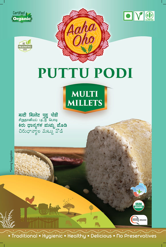 Puttu originates from Kerala and is mainly made out of Rice. This recipe is adopted using Foxtail Millets and Little millet and presented in a convenient form. Foxtail millet is rich in protein, good to control diabetics, keeps your digestive tract clean, reducing heart attack risk, high in antioxidants, helps in weight loss, and reduces gastric problems.