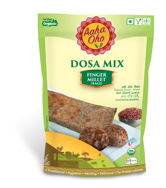 We have curated a special Organic Dosa Mix which contains Ragi or Finger Millet. Millets are micro-nutrients that are nutritious and are a replacement for rice and wheat. Ragi or Finger Millet is the most common form of millet used in our everyday life. Ragi is high in Calcium, high protein content, rich in minerals and antioxidants. Ragi additionally has been proven beneficial in losing weight, good for bone health, and helps diabetes.