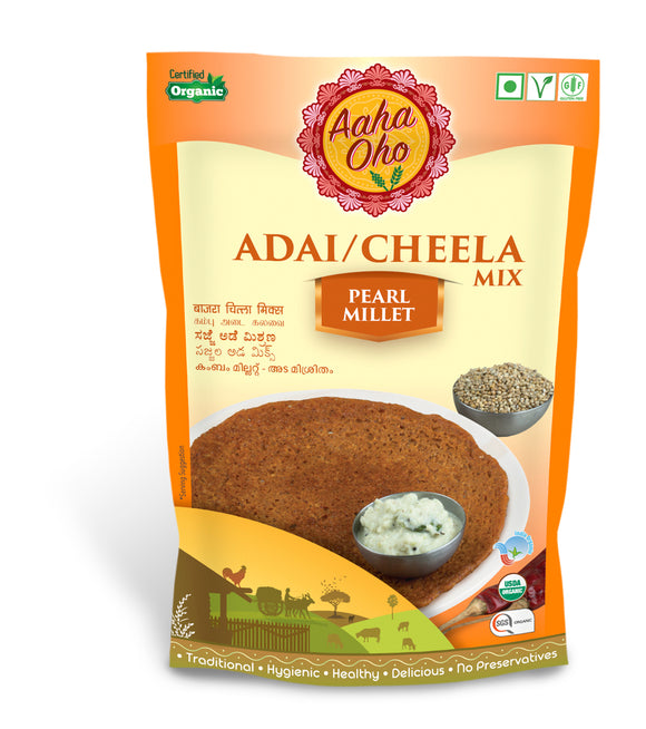 For all the Dosa lovers out there we have curated this super healthy yet tasty dish which uses the finest of grains and is an Adai/Chilla mix is made from Pearl Millet/Bajra. Pearl Millets contains niacin which reduces cholesterol and magnesium helps to lower blood pressure and reduces the risk of heart attacks. It is also beneficial in treating stomach ulcers in many cases.