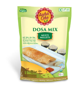 We have curated a special Organic Dosa Mix which contains all the healthy millets for all the Dosa Lovers!! This Dosa mix is a combination of Kodo Millet, Barnyard Millet, Little Millet, and Urad Dal. They collectively help us lower the risk of diabetes, reduce the chances of a heart attack. These are also high in fiber and a rich source of protein and Vitamin B. Now you get all the benefits of all millets in one single dish.