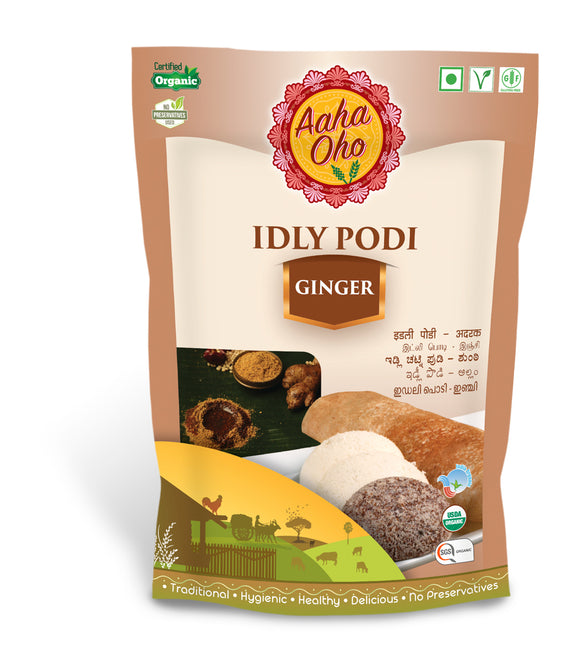 Podi's are the go-to foods when it comes to eating Dosas and Idlis. Therefore we have curated special Podi's with different tastes and flavors. The Flaxseed Organic Podi consists of Ginger, Bengal Gram, Black Urad Dal, Red Chillies, Mustard Seeds, Rock Salt. It's like an explosion of flavors in your mouth. It's very simple and easy to make and also healthy.