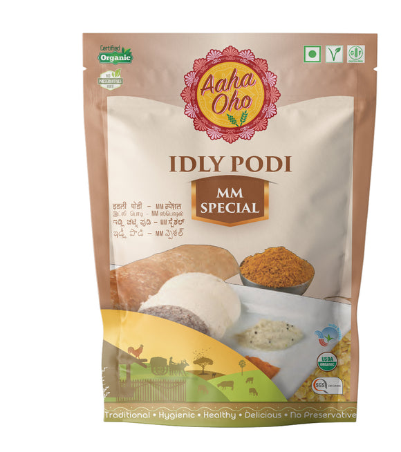 Podi's are the go-to foods when it comes to eating Dosas and Idlis. Therefore we have curated special Podi's with different tastes and flavors. The MM Special Podi consists of Toor Dal, Bengal Gram, Black Urad Dal, Red Chillies, Mustard Seeds, Rock Salt. It's like an explosion of flavors in your mouth. It's very simple and easy to make and also healthy.