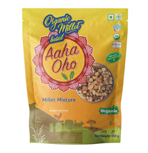 Load image into Gallery viewer, Who doesn't love to eat snacks? We understand your concern and have created a completely organic and healthy millet mixture containing several micronutrients in it. Millets absorb lesser oil and make the snack healthy. They collectively help us lower the risk of diabetes, reduce the chances of a heart attack. These are also high in fiber and a rich source of protein, calcium, phosphorus, and Vitamin B.