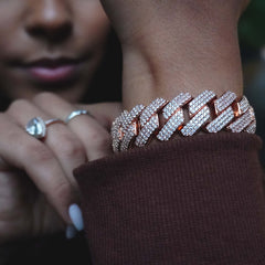 19MM Prong Set Cuban Link Bracelet