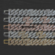 Load image into Gallery viewer, 14MM Prong Set Cuban Gucci Link