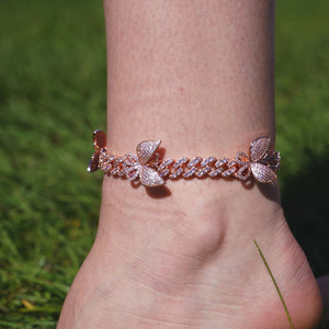 10MM Butterfly Cuban Link Anklet