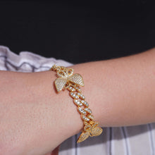 Load image into Gallery viewer, 10MM Butterfly Cuban Link Bracelet
