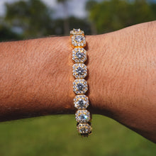 Load image into Gallery viewer, Cluster Tennis Bracelet