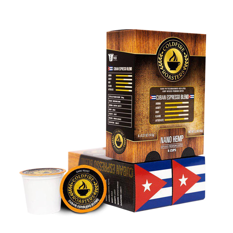 Coldfire Roasters Water Soluble Nano Hemp CBD K-Cup Coffee Pods Cuban