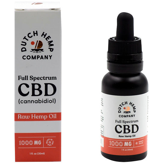 Dutch Hemp Premium Full Spectrum Hemp CBD Tincture 1000mg