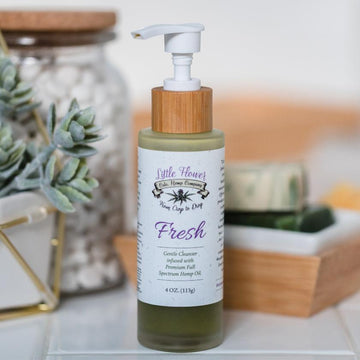 Little Flower Fresh Full Spectrum Hemp CBD Face Cleanser