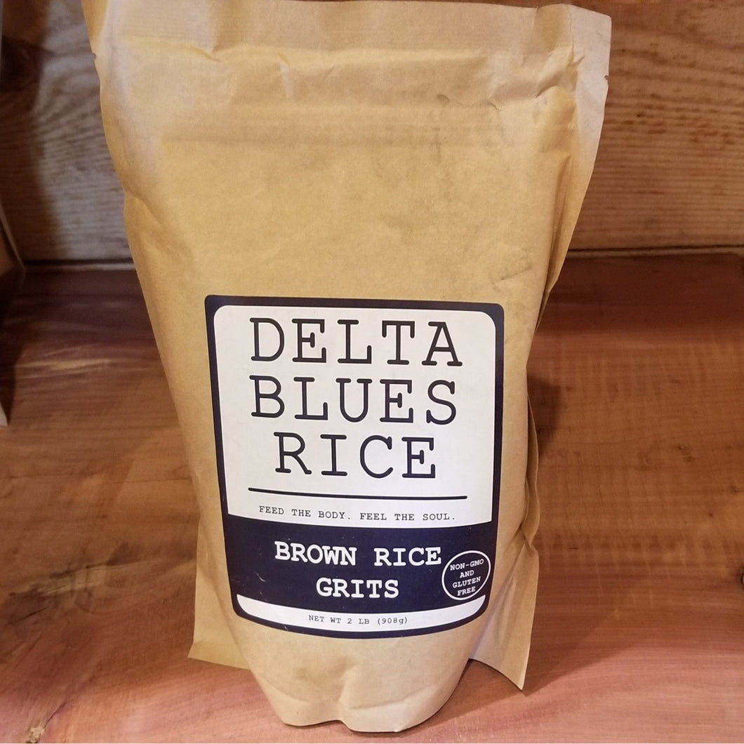 Freshly milled Brown Rice Grits. 2 lbs. net weight.
