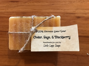Cedar, Sage, And Blackberry All-Natural Soap