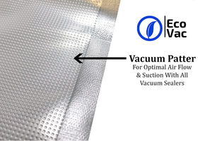 EcoVac Vacuum Sealer Bag Embossed Pattern