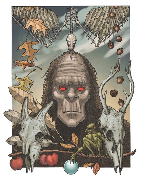 "BIGFOOT - Where the Footprints End - 13"" x 17"" art print by Timothy Renner"