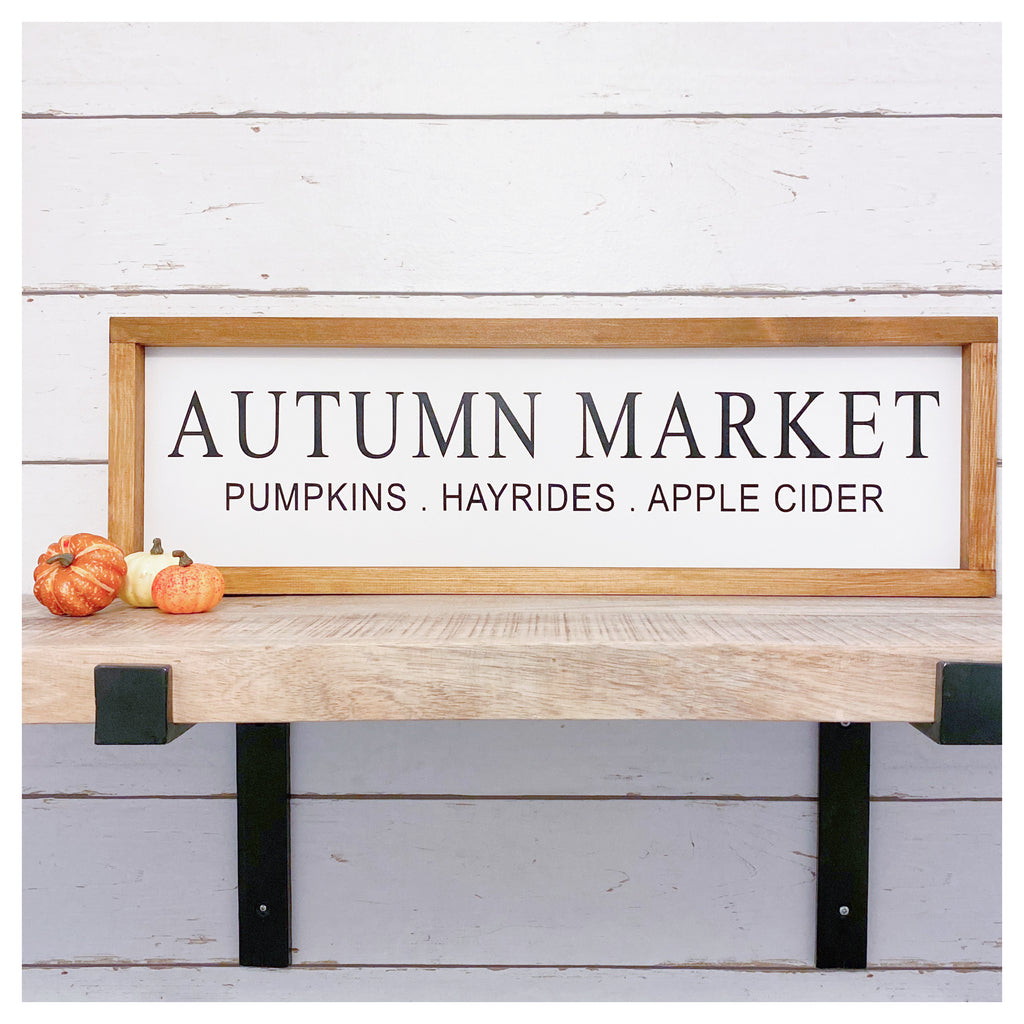 Autumn Market Farmhouse Sign