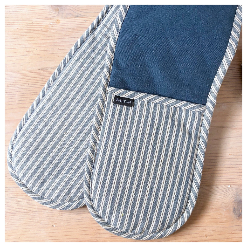 Hampton Blue Stripe Oven Glove
