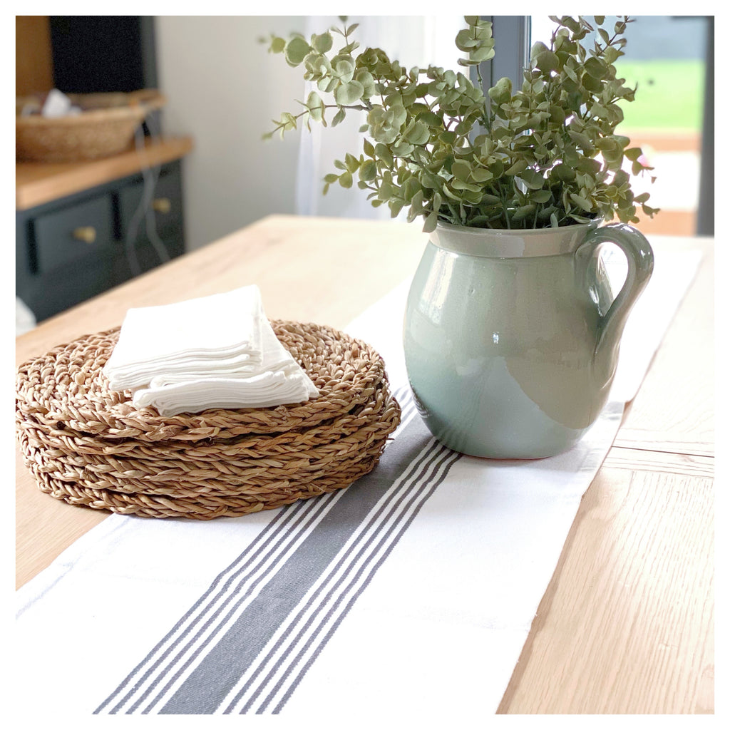Farmhouse Stripe Table Runner
