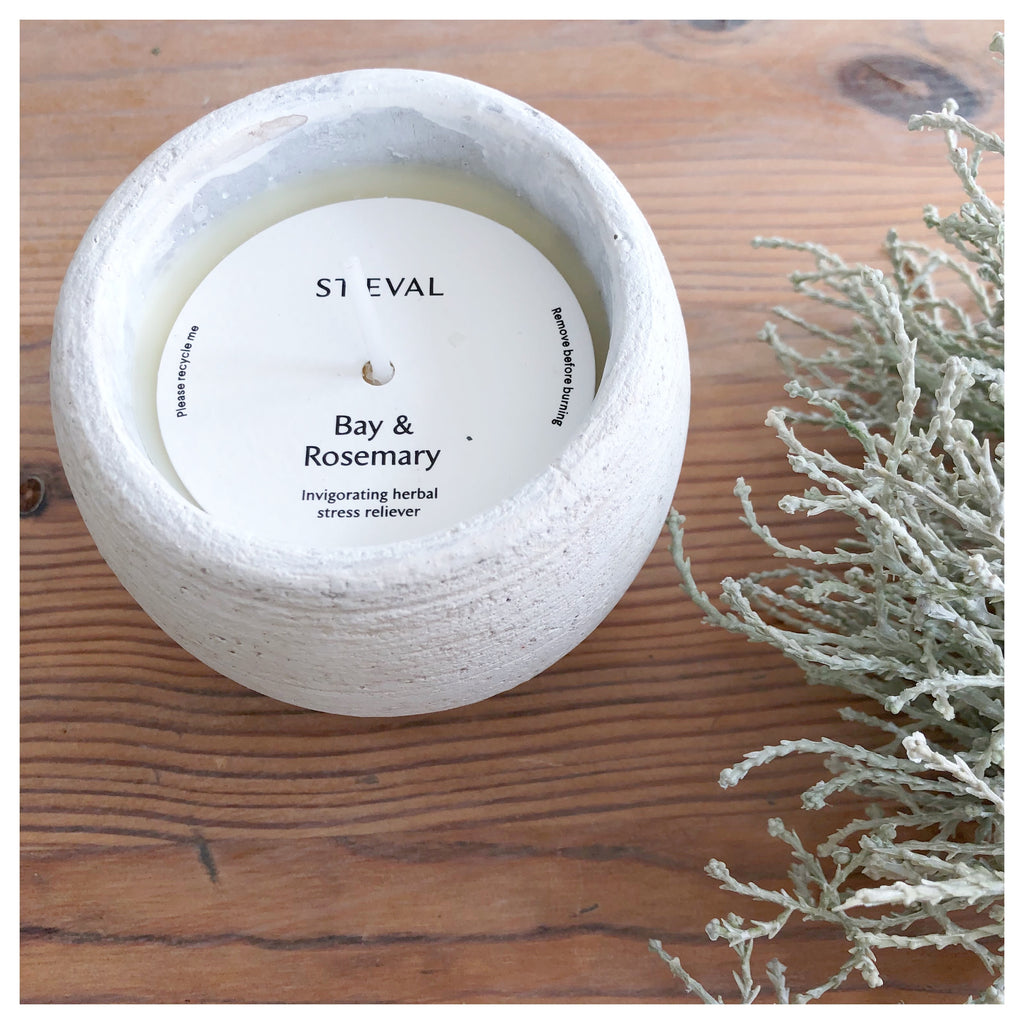 Bay & Rosemary Rustic Pot Candle