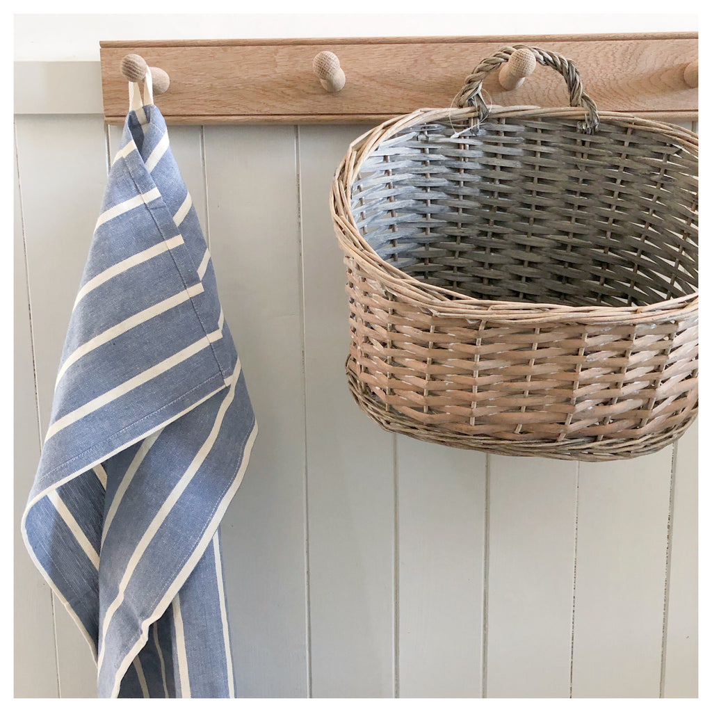 Coastal Blue Stripe Tea Towel