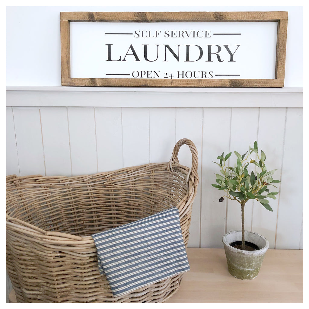 Self Serve Laundry Farmhouse Sign