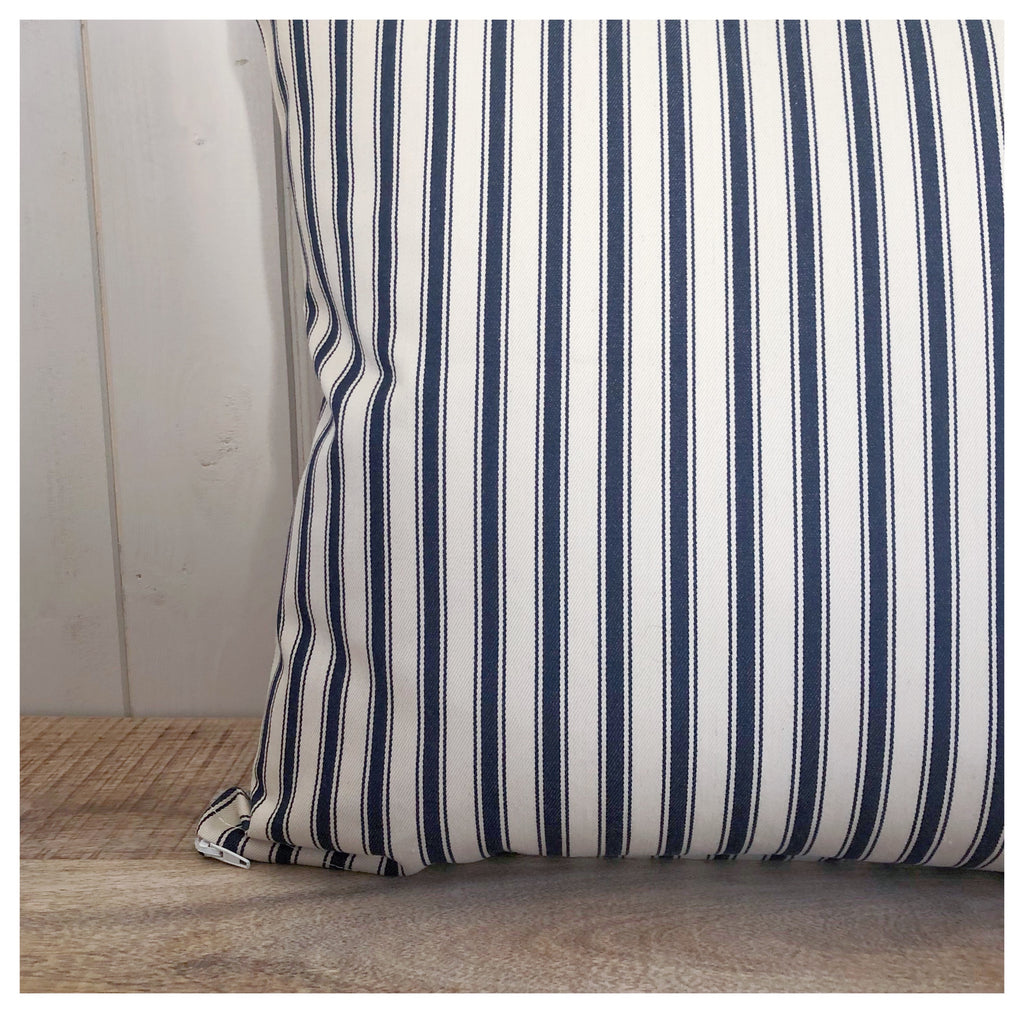 Coastal Navy Stripe Cushion