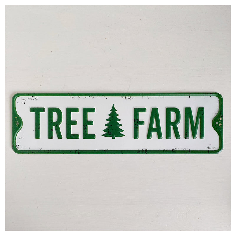 Tree Farm Metal Sign
