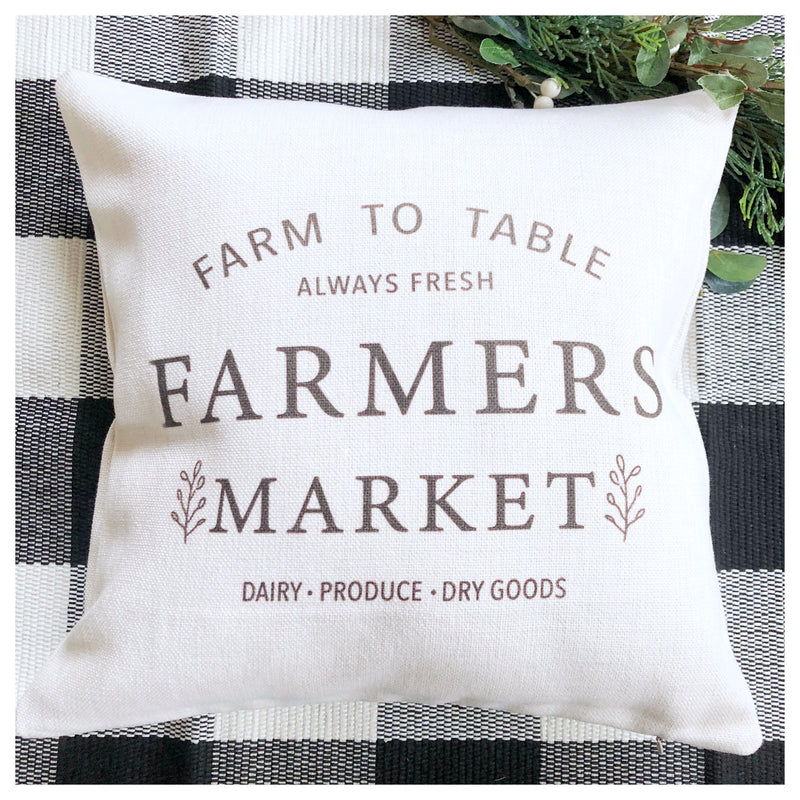 Farmers Market Cushion