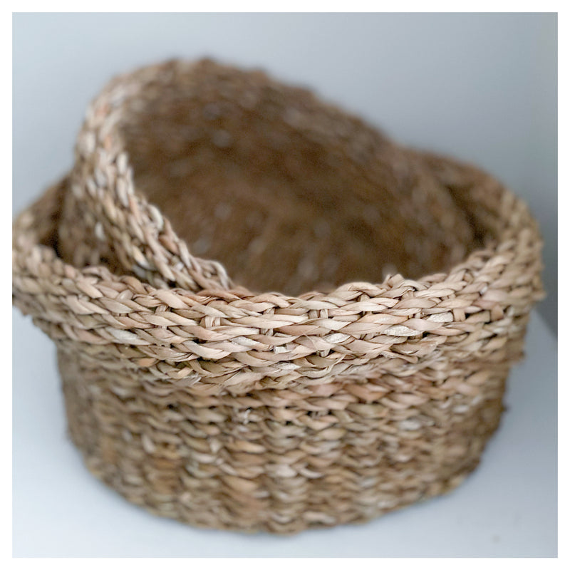 Rim Detail Seagrass Baskets