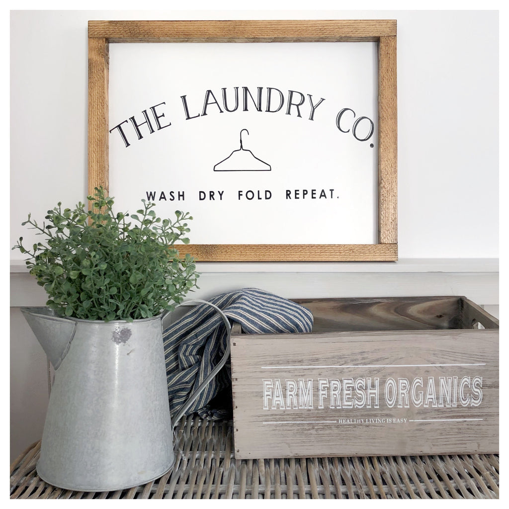 Laundry Co. Farmhouse Sign