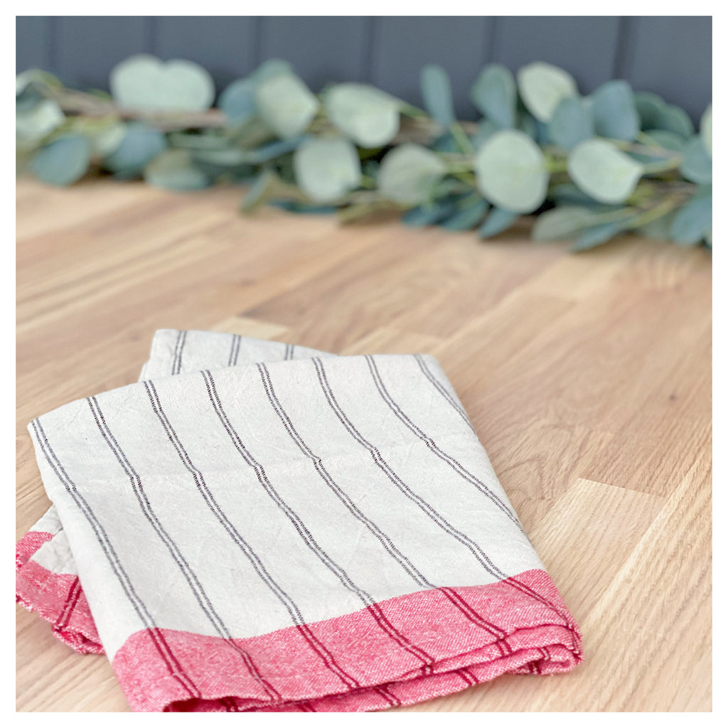 Festive Stripe Tea Towel