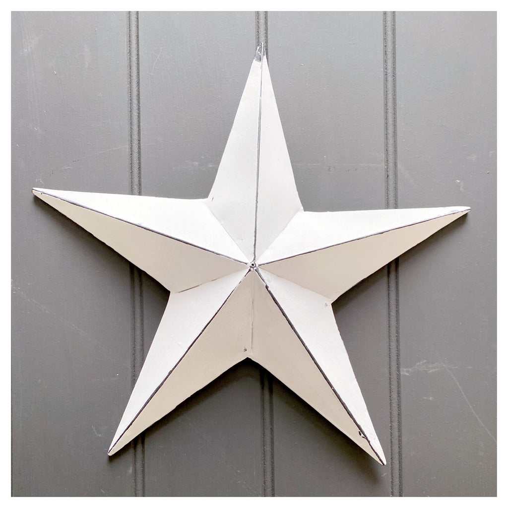 Vintage White Barn Star