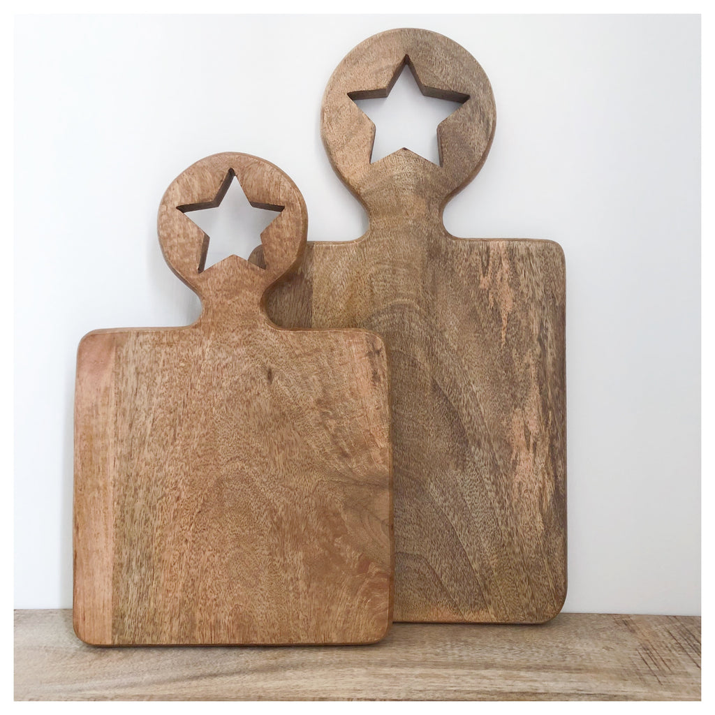 Wooden Star Chopping Board