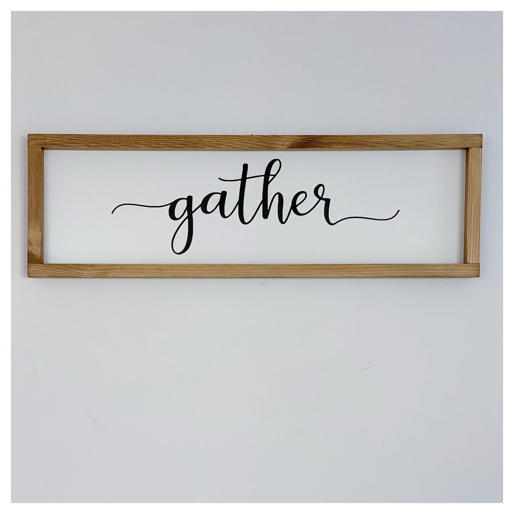 Small Gather Farmhouse Sign