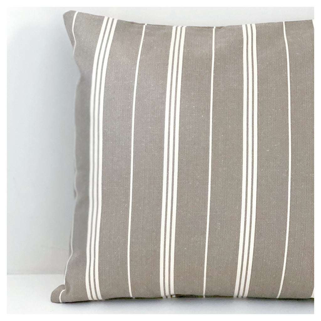 Taupe Stripe Cushion