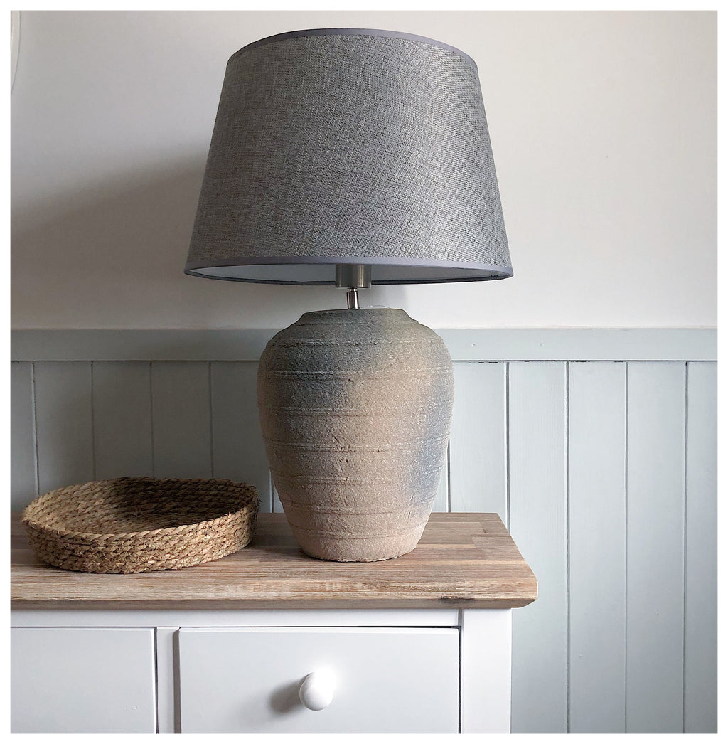 Oversized Grey Lamp