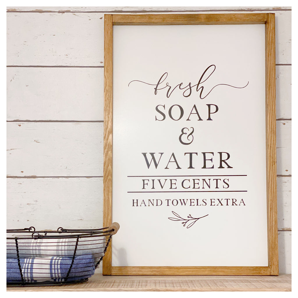 Large 'Fresh Soap' Farmhouse Sign